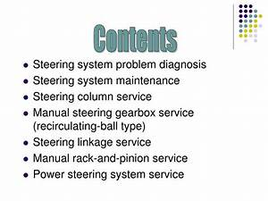 Ppt - Steering Systems Powerpoint Presentation