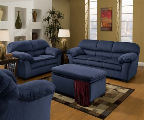 loveseat and ottoman navy blue coffee table with tufted ottoman roy home design