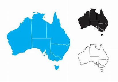 Australia Map Vector State Outline Outlines States