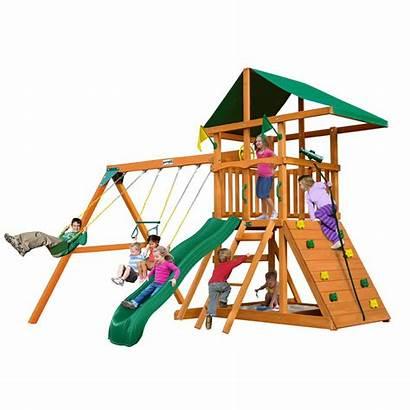 Swing Playsets Gorilla Slide Wooden Wall Rock
