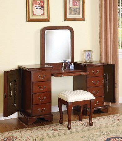 vanity sets for bedrooms acme 06565 louis philippe cherry vanity and bench set acme 17703 | c3595f85e10c4dcc1cfaf65a03316aaa
