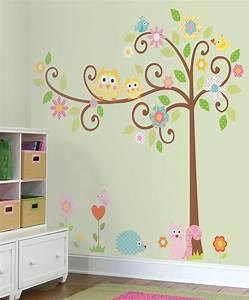 Tree wall stickers grasscloth wallpaper