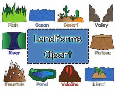 Earth Land Water Landforms Clipart Distribution Pdf
