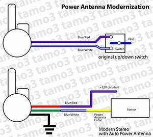 Connect Power Antenna To Modern Car Stereo - Electrical