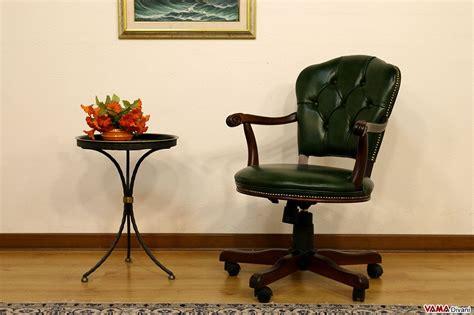 Sedia Poltrona Direzionale Da Ufficio In Pelle Con Girevole