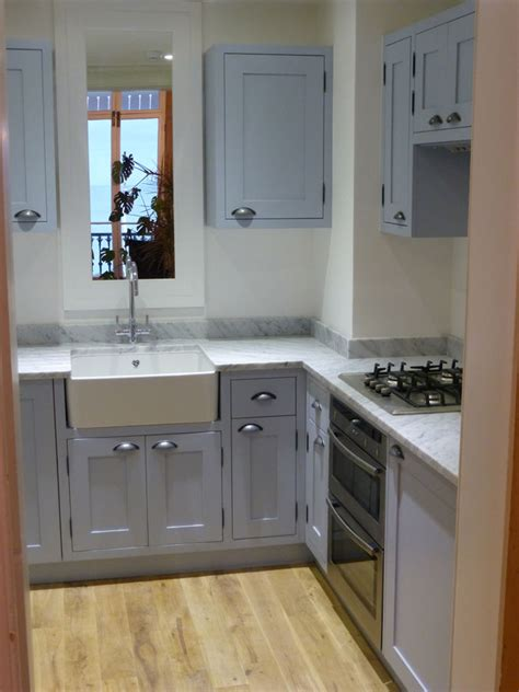 Parma Gray And Carrera Marble Painted Kitchen By Peter
