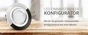 Einbaustrahler Mit Bewegungsmelder : led einbaustrahler konfigurator led lichtraum ~ Watch28wear.com Haus und Dekorationen