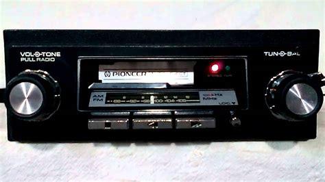cassette car vintage pioneer kp 4000 am fm cassette car stereo 1st
