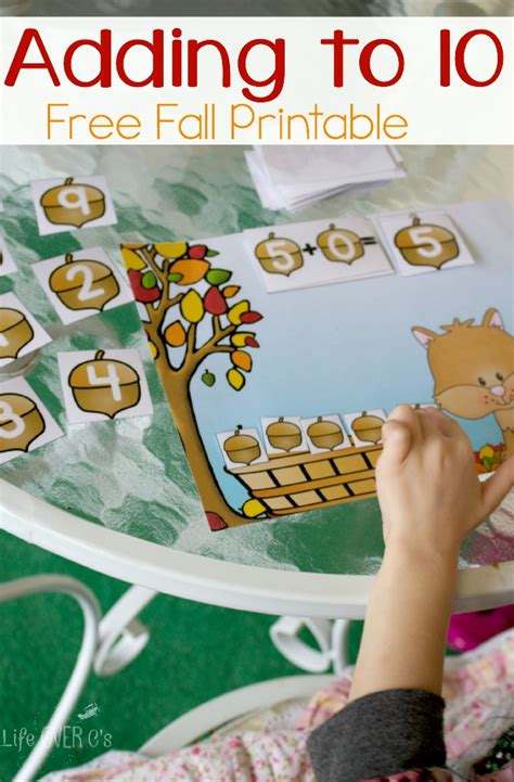Free Adding To 10 Fall Printables  Free Homeschool Deals