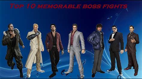 top   memorable boss fights   yakuza series