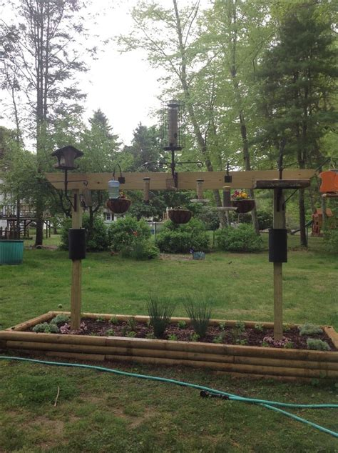 how to build a bird feeder station woodworking projects