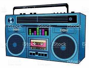 Retro 80s Boombox Illustration stock photo 498602659   iStock