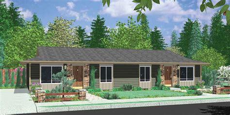single level home designs one level duplex house plans corner lot duplex plans