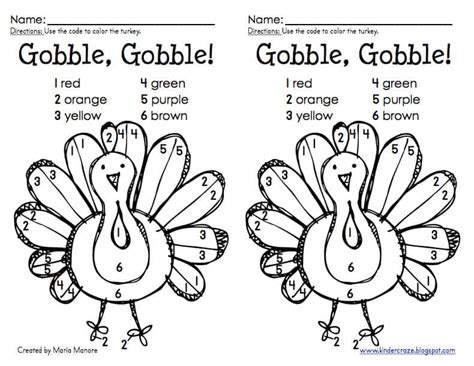 thanksgiving activities for the cupcake diaries 975 | Turkey color sample pic