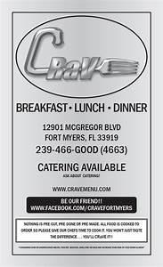 Regular Menu | CRaVE Restaurant