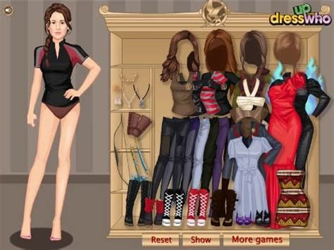 katniss hunger games  fashion dress  games play