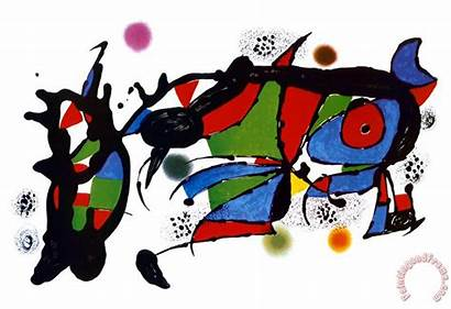 Joan Miro Obra Kunstdruck Bild Poster Paintingandframe