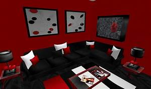 red and black living room peenmediacom With black and red living room ideas