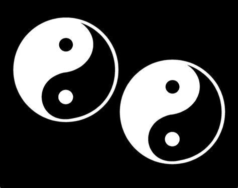 ying yang decals set yin yan symbols vinyl set of two