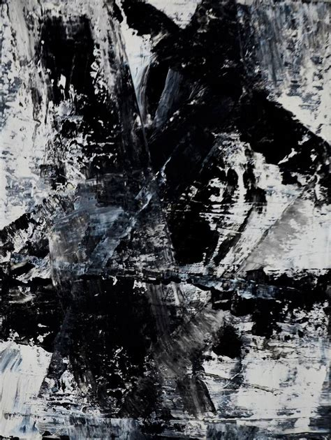 Abstract Painting Black And White by Black And White Abstract Painting By Grossmann