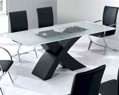 glass top modern dining table moderno european design