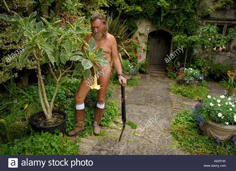 ian and barbara pollard the naked gardeners pictured at