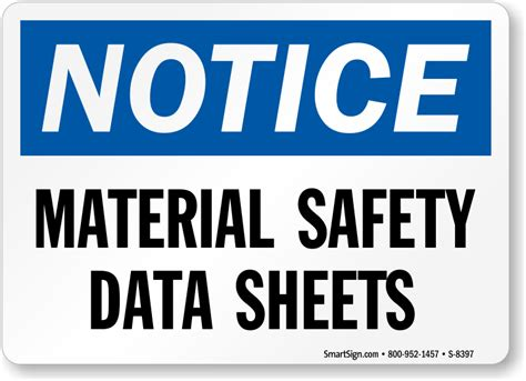 Material Safety Data Sheet Signs