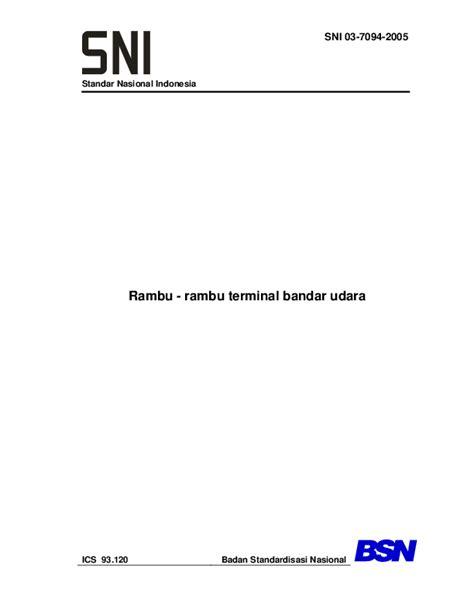 (PDF) Standar Nasional Indonesia Rambu -rambu terminal