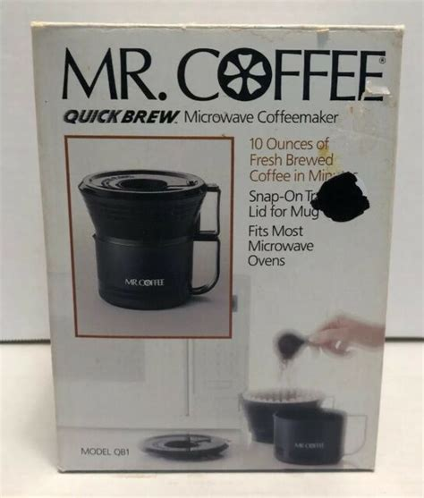 Something was definitely wrong, and it seemed to be malfunctioning for no apparent reason. Mr. Coffee Quick Brew Microwave Coffeemaker 10 ounces with ...