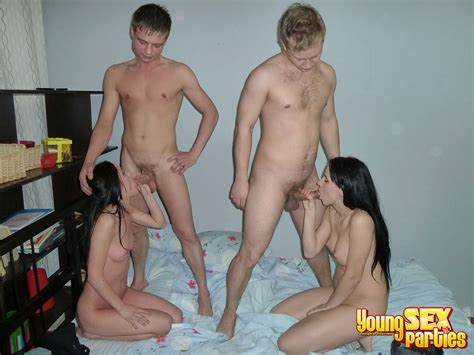 Four Hottie And Three Cocks Are Enough For A Foursome