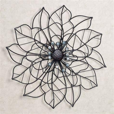 in bloom flower blossom metal wall
