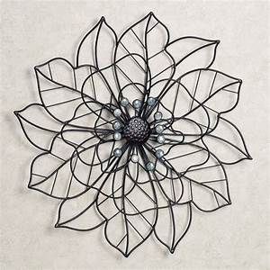 beauty in bloom flower blossom metal wall art With flower wall art