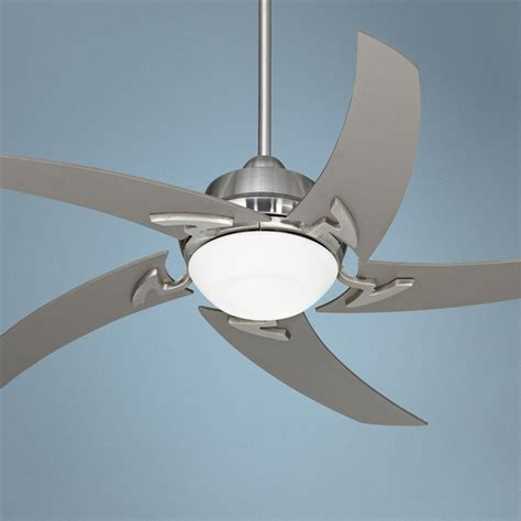 52 quot casa vieja brushed nickel ceiling fan with light