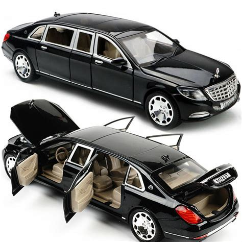 New Limousine Car by Mercedes Maybach S600 Limousine 1 24 Diecast Metal Model