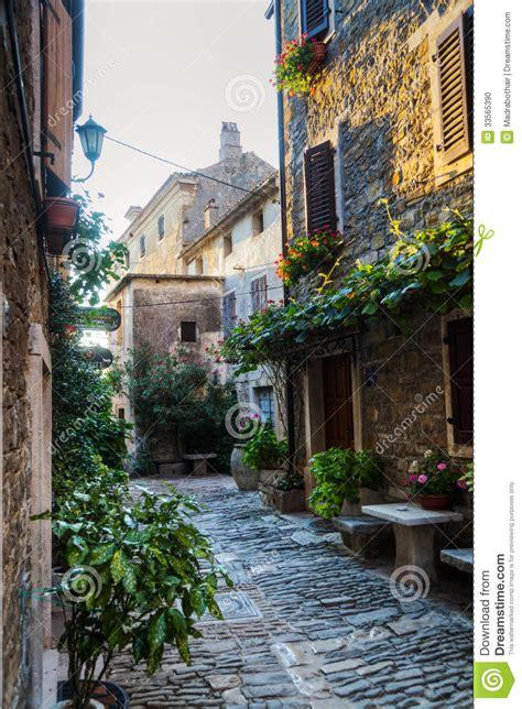alley  groznjan croatia stock photo image