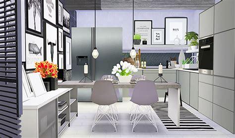 sims  cc swedish modern kitchen