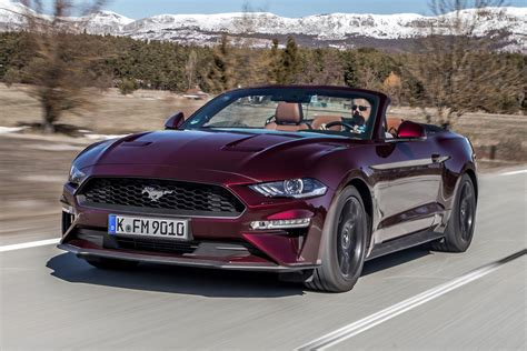 ford mustang ecoboost convertible  review auto