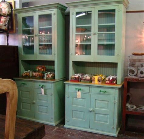 Food Pantry Furniture Reclaimed Wood Butler Pantry Cabinets Pair Painted