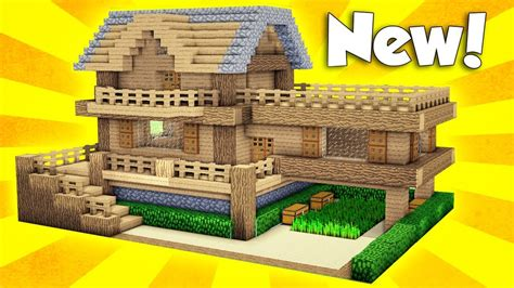 minecraft wooden survival house tutorial   build  house  minecraft easy youtube