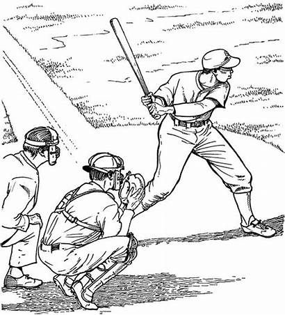 Baseball Coloring Pages Field Printable Adult Batter