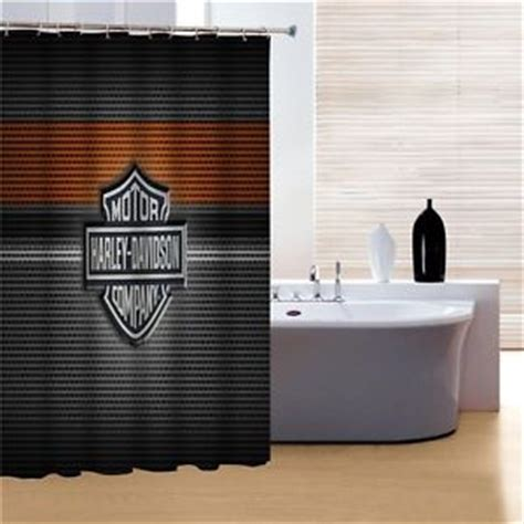 harley davidson shower curtain bathroom decor motorcycle