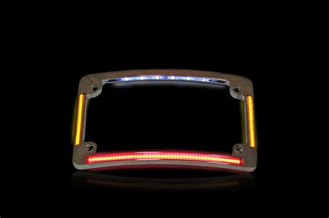 All In One Chrome Radius Flushmount Led Motorcycle License