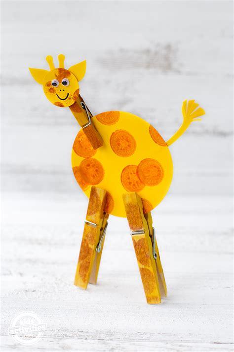 easy giraffe craft  kids