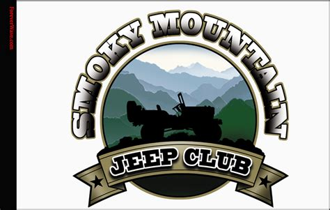 mountain jeep logo smoky mountain jeep club flag forever wave