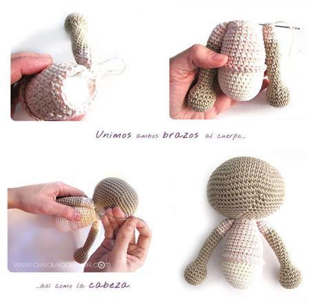 como hacer un peluche de crochet conejita amigurumi orejas largas tutorial diy paso a paso y