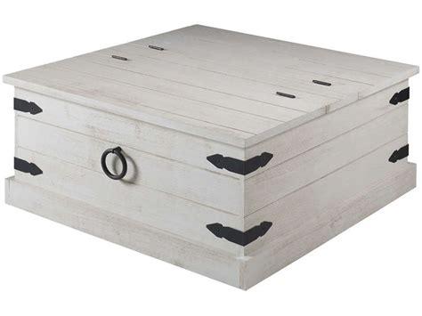 canapé pour chien table basse rectangulaire avec coffre saraya coloris blanc