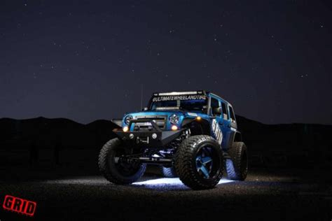 jeep blue and black grid off road ultimate wheel tire jeep wrangler jks