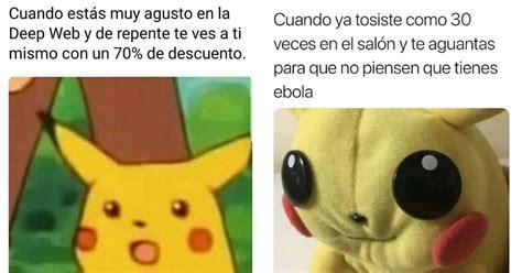 Pikachu Meme Memes De Pikachu Asustado Con Chapitas Y Carita Sorprendida