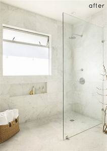 Walk In Standing Shower With Glass Wall And No Door No