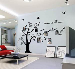 Hot Sale! Large Photo Frame Tree Leaf Art Mural Wall Sticker Decal Home Decor eBay